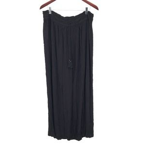 NEW Style & Co Wide Leg high rise festival boho Palazzo Pants Black XL women's
